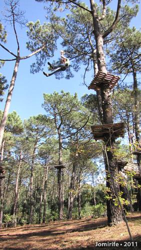 Parque Aventura: Slide lá no alto
