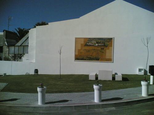 Painel 'As Mondadeiras' em Alqueidão