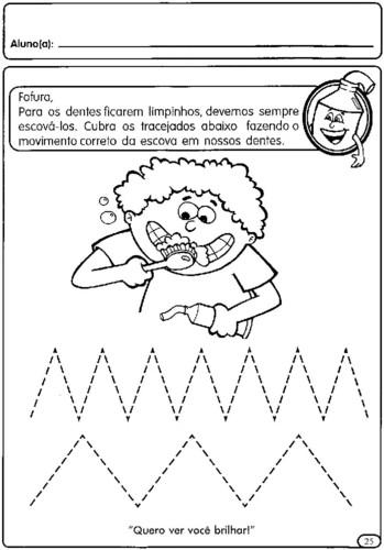 atividades com tracejado para maternal