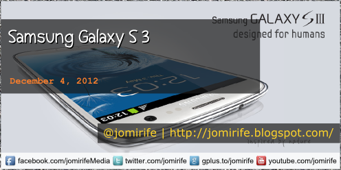 Blog Post: Samsung Galaxy S 3 (tech specs)