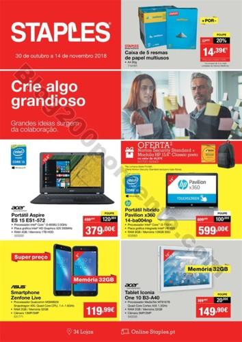 Antevisão Folheto STAPLES Promoções de 30 a 14