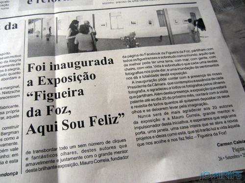 Notícia sobre a Exposição coletiva de Fotografia «Figueira da Foz, aqui sou feliz» no jornal «O Dever» - Texto por Carmen Caleia