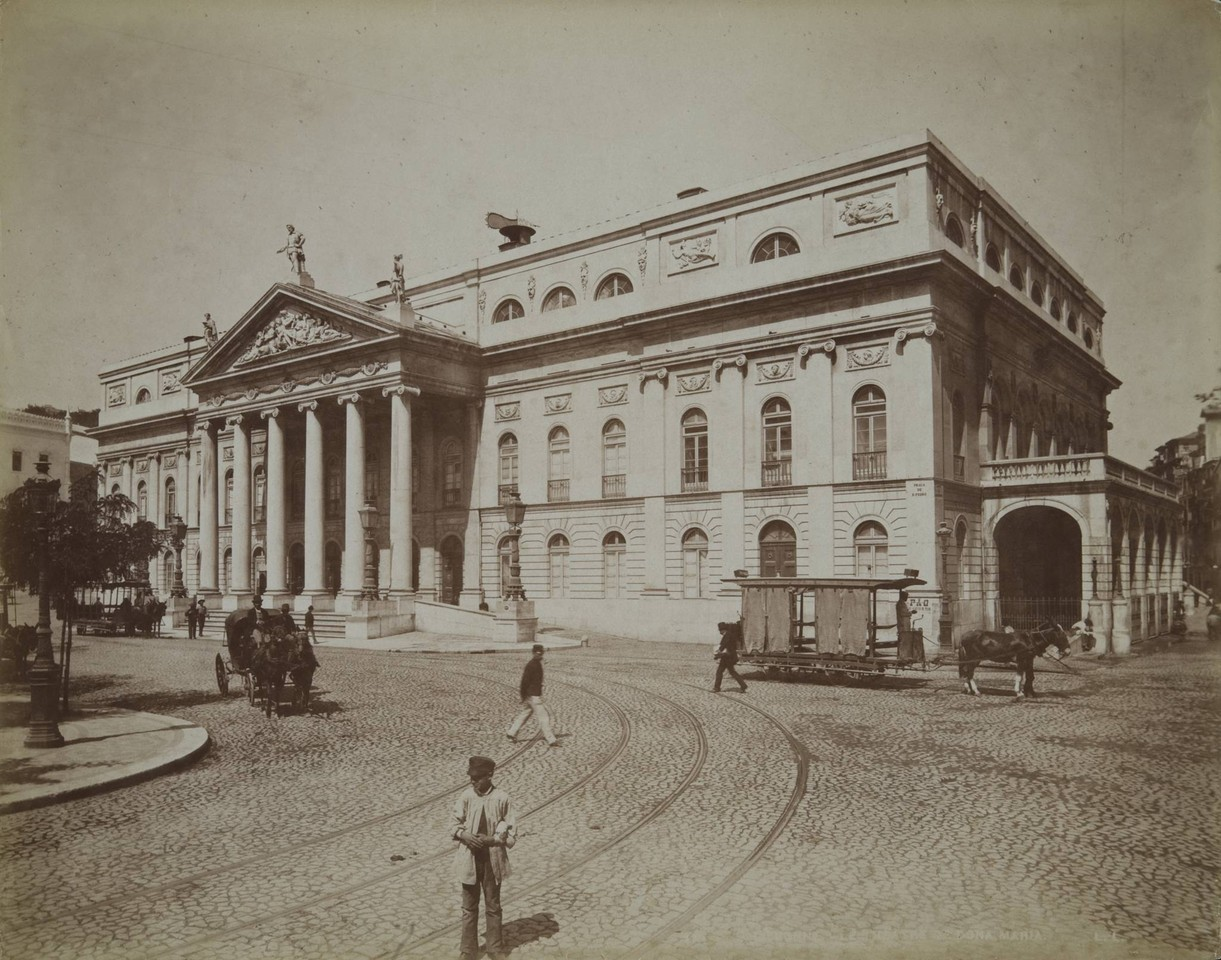 Teatro Nacional Dona Maria II, c. 1890, foto do es