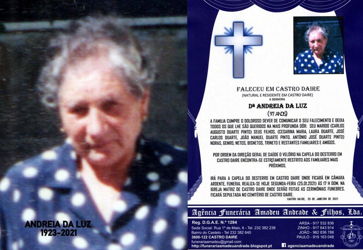 RIP-FOTO DE ANDREIA DA LUZ-97 ANOS (CASTRO DAIRE).