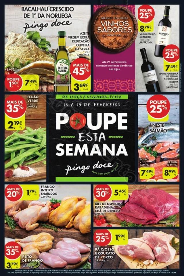 Antevisão Folheto PINGO DOCE Madeira 13 a 19 feve