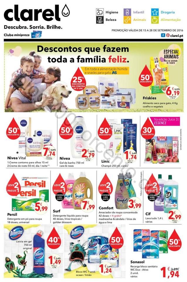 Antevisão Folheto CLAREL promoções de 15 a 28 s