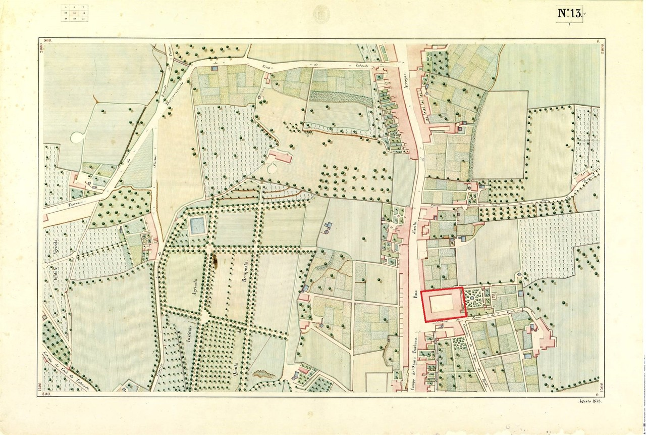 Atlas da carta topográfica de Lisboa, n.º 13, 18