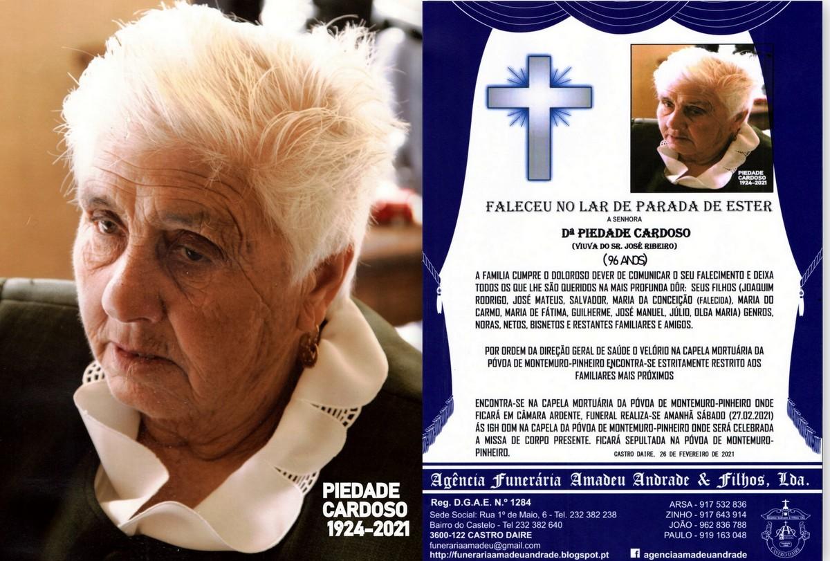 FOTO RIP-PIEDADE CARDOSO-96 ANOS (PÓVOA DE MONTEM