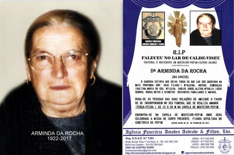 FOTO E RIP-DE ARMINDA DA ROCHA -94 ANOS MOSTEIRO-P