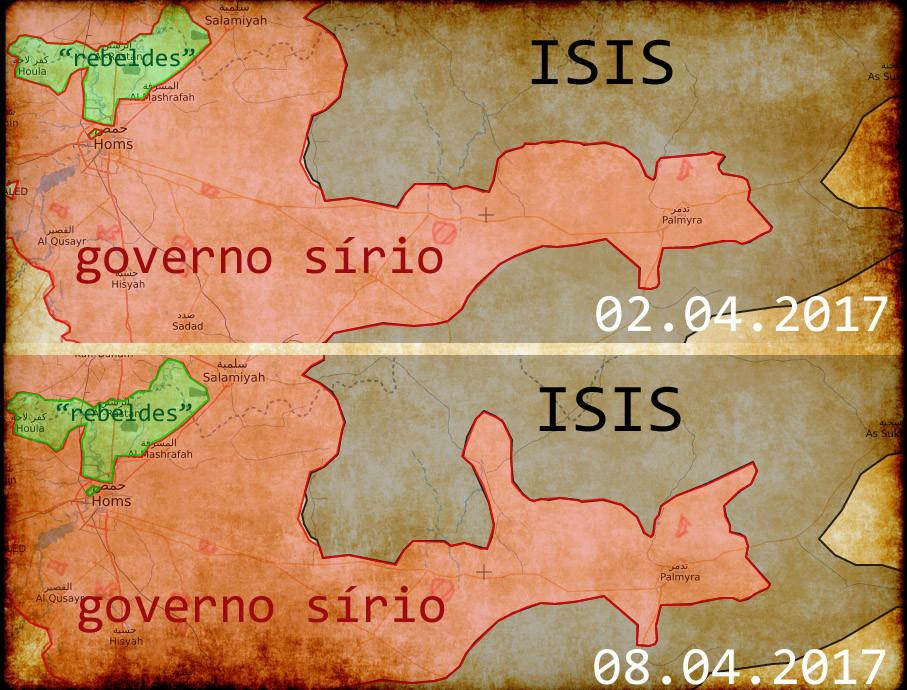 ganhos sírios contra o ISIS