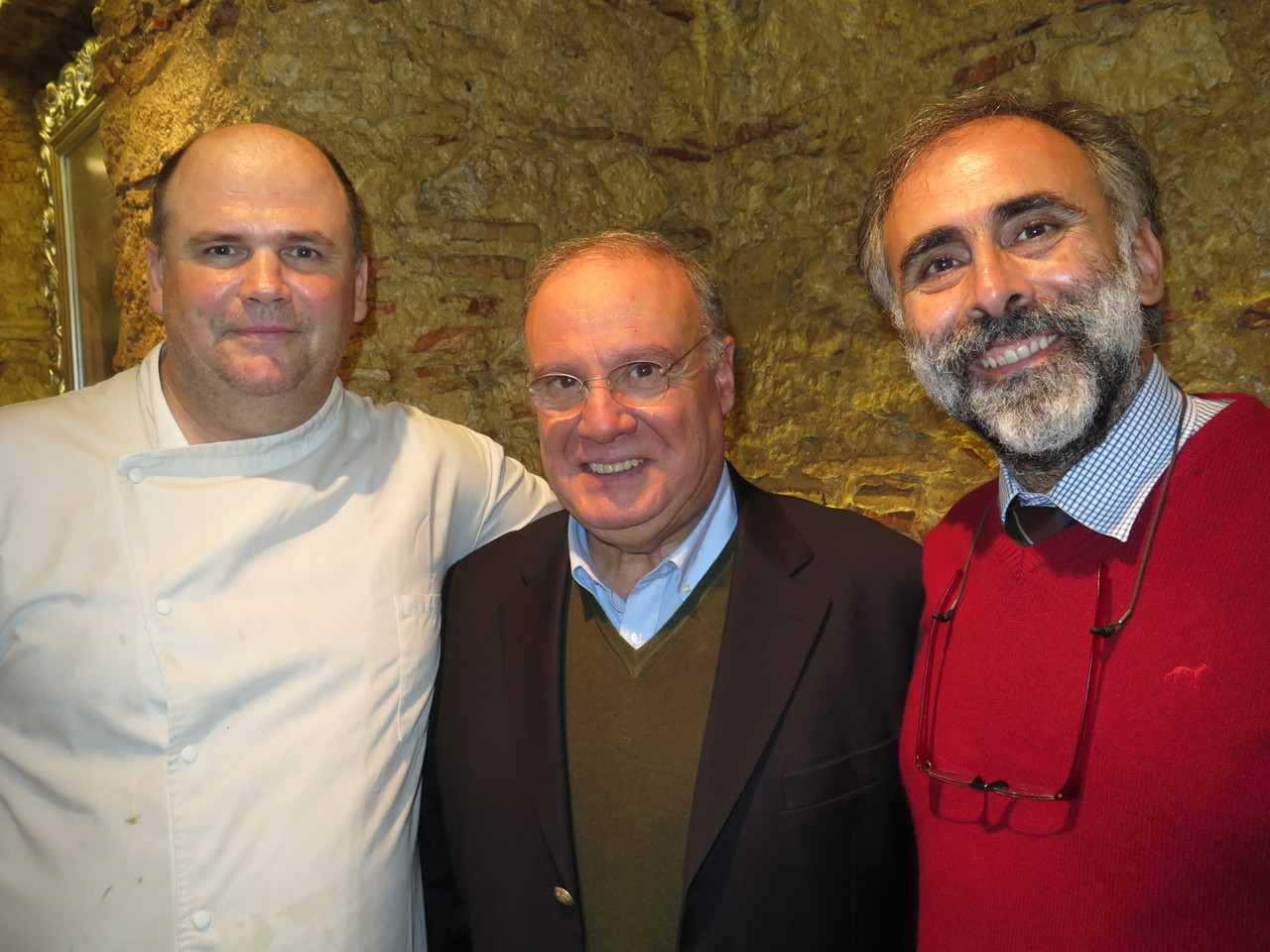Chef Walter Blazevic, Professor Virgílio Loureiro, Produtor Pedro Verdelho