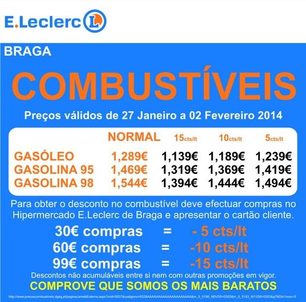 Especial | E-LECLERC | Combustiveis - Braga, até 2 fevereiro