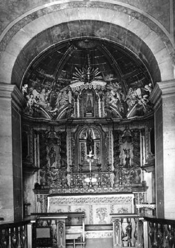 Ermida de Santo Amaro, interior, 1964, foto de Arm