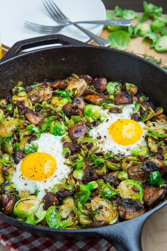 Brussels-Sprout-and-Mushroom-Hash-with-Fried-Eggs-