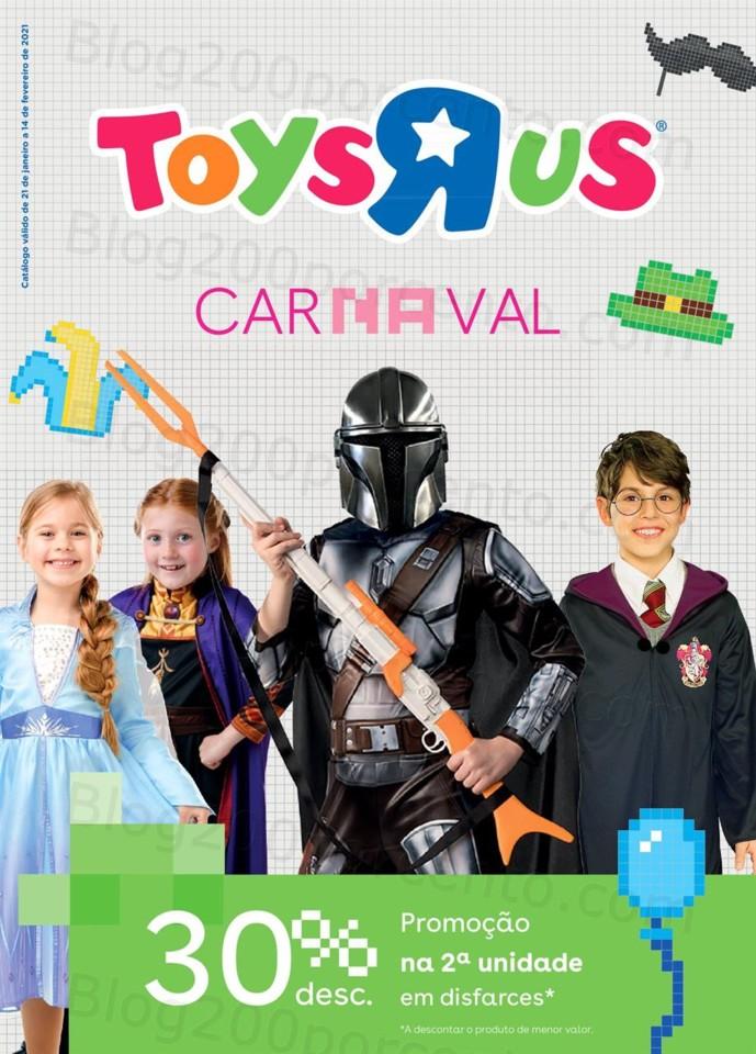 Antevisão Folheto TOYSRUS Carnaval Promoções de