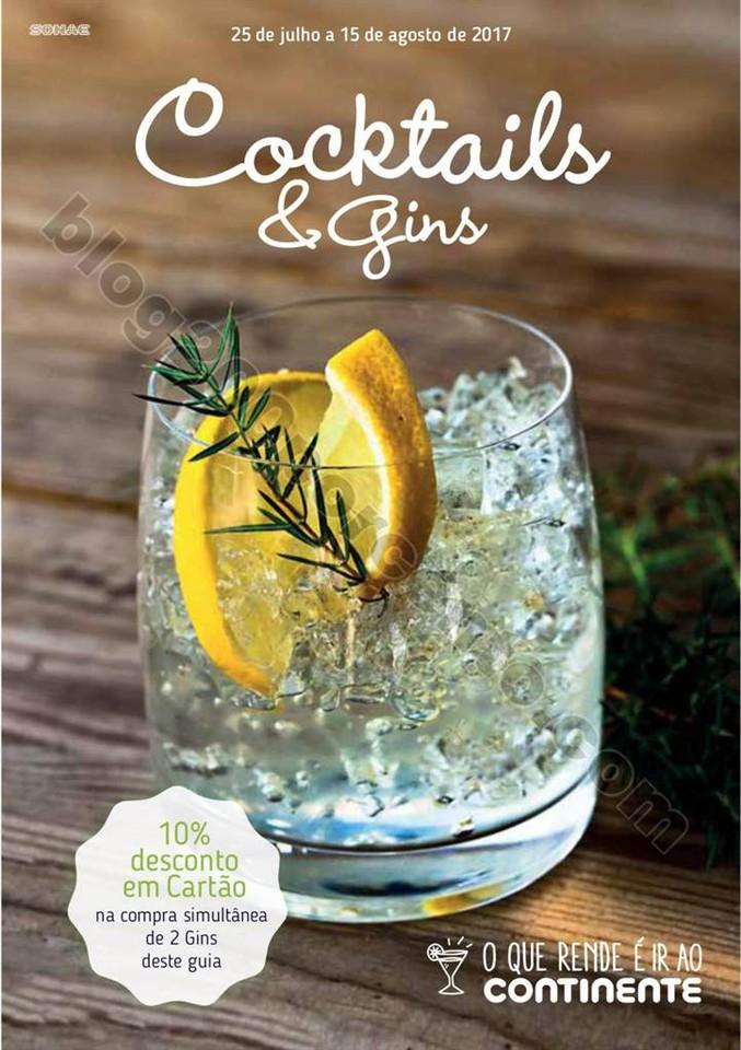 Antevisão Folheto CONTINENTE Cocktails de 25 julh