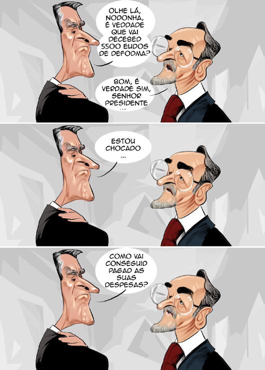 Cartoons - As reformas de Cavaco Silva e Noronha do Nascimento
