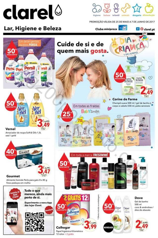 Antevisão Folheto CLAREL Promoções de 25 maio a