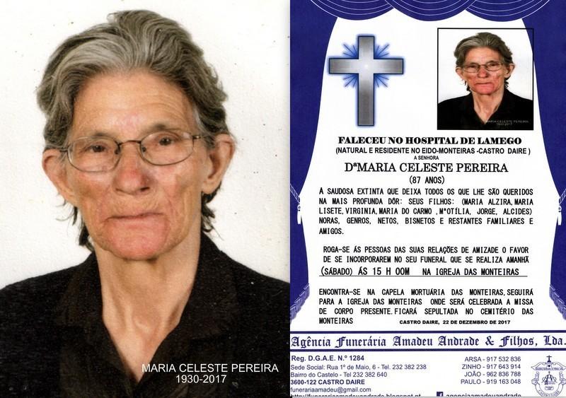 RIP FOTO DE MARIA CELESTE PEREIRA -87 ANOS (MONTEI