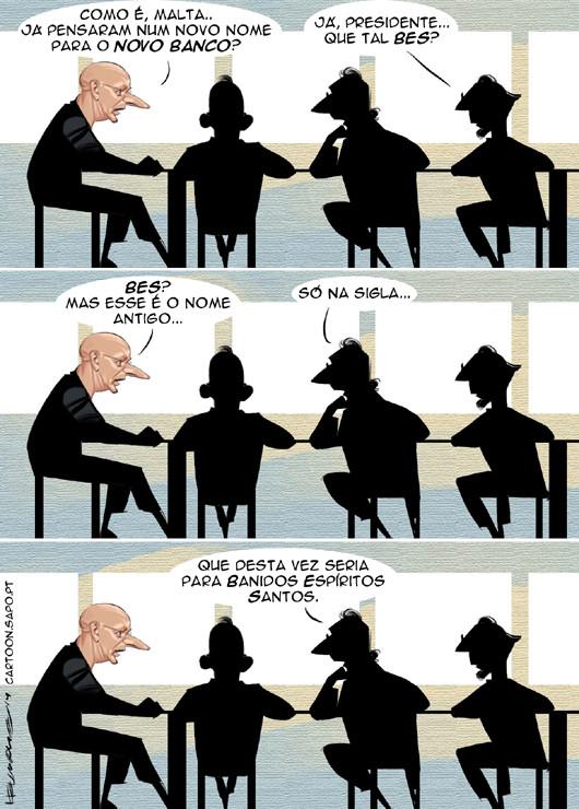 Cartoons - Novo Banco - BES - Bandidos Espíritos Santos