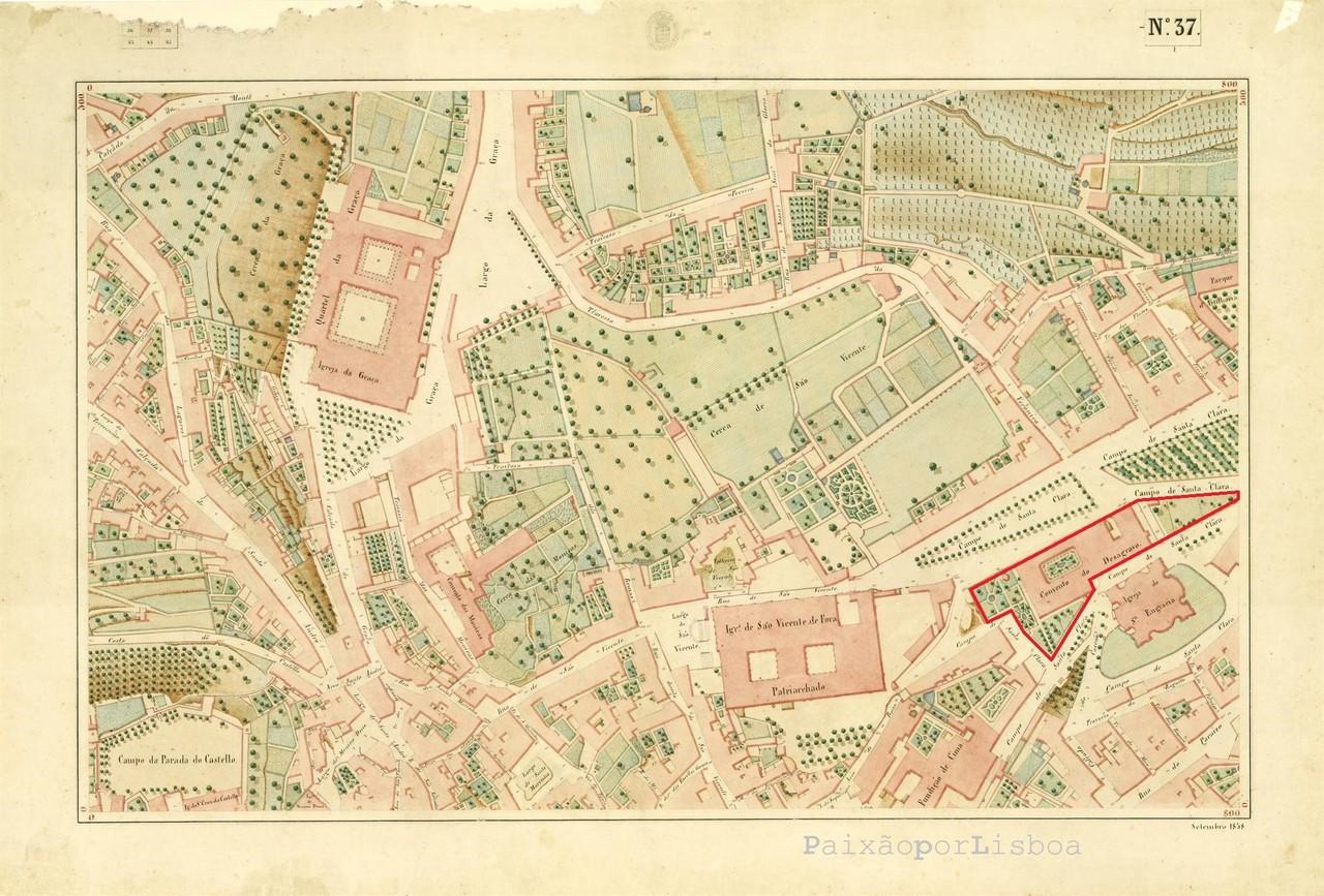 Atlas da carta topográfica de Lisboa, n.º 37, 18