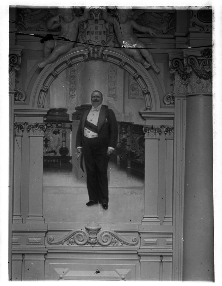Rei Dom Carlos, retrato a óleo de José Malhoa, c