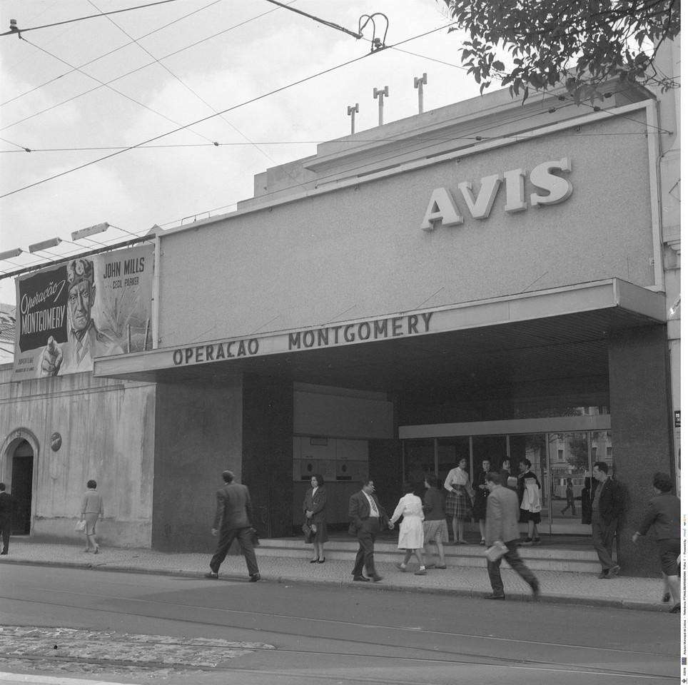 Cinema Avis, antes Palácio, 1960, foto de Arnaldo