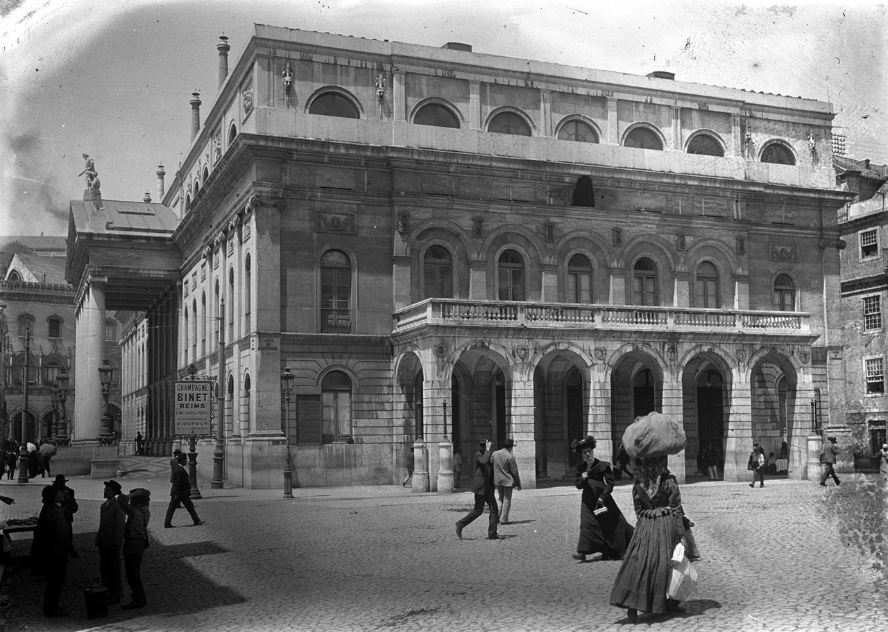 Teatro Nacional Dona Maria II, fachada lateral, sa