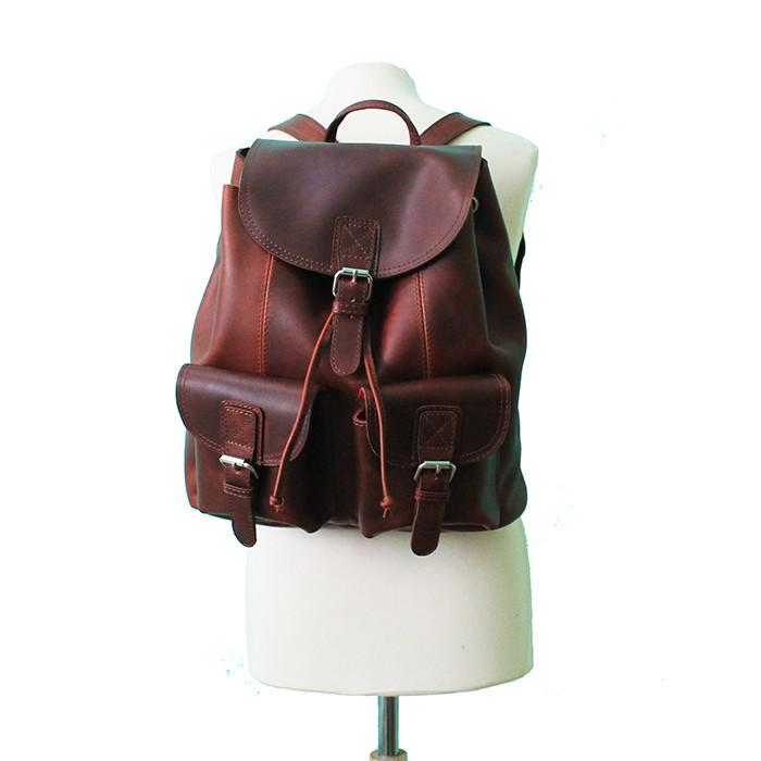 mochila masculina de pele