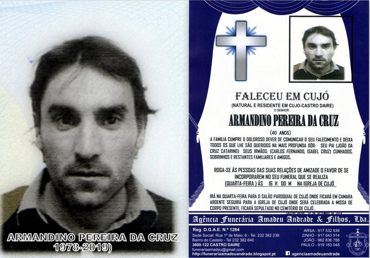 FOTO RIP  DE ARMANDINO PEREIRA DA CRUZ-41 ANOS(CUJ