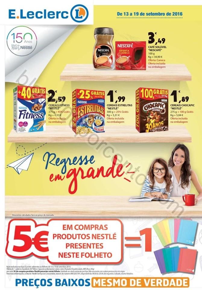 Novo Folheto E-LECLERC Promoções até 19 setembr