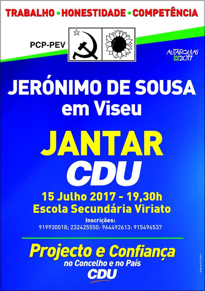 Jerónimo de Sousa em Viseu - Jantar CDU