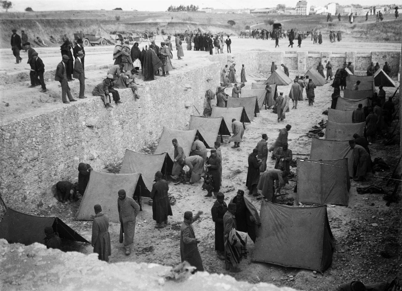 Revolução de Sidónio Pais, acampamento das trop