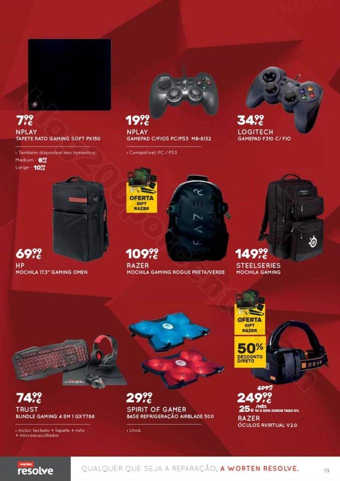 Novo Folheto WORTEN Gamer promoções até 22 nove