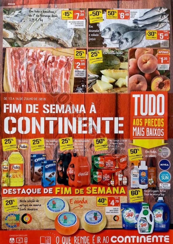 Antevisao folheto continente fim de semana 13 a 16