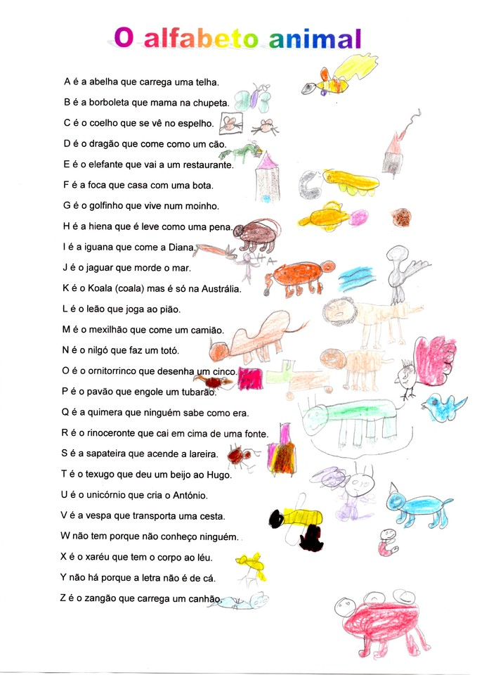 Famosos Alfabeto animal - Gosto da escola! GI13