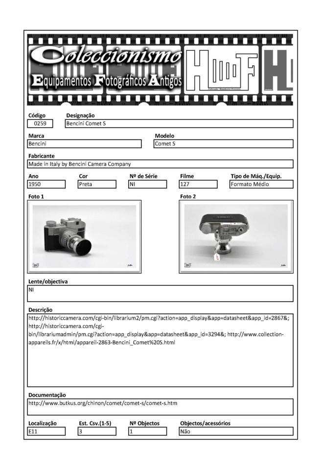 Inventariação da colecção_0259 Bencini Comet S
