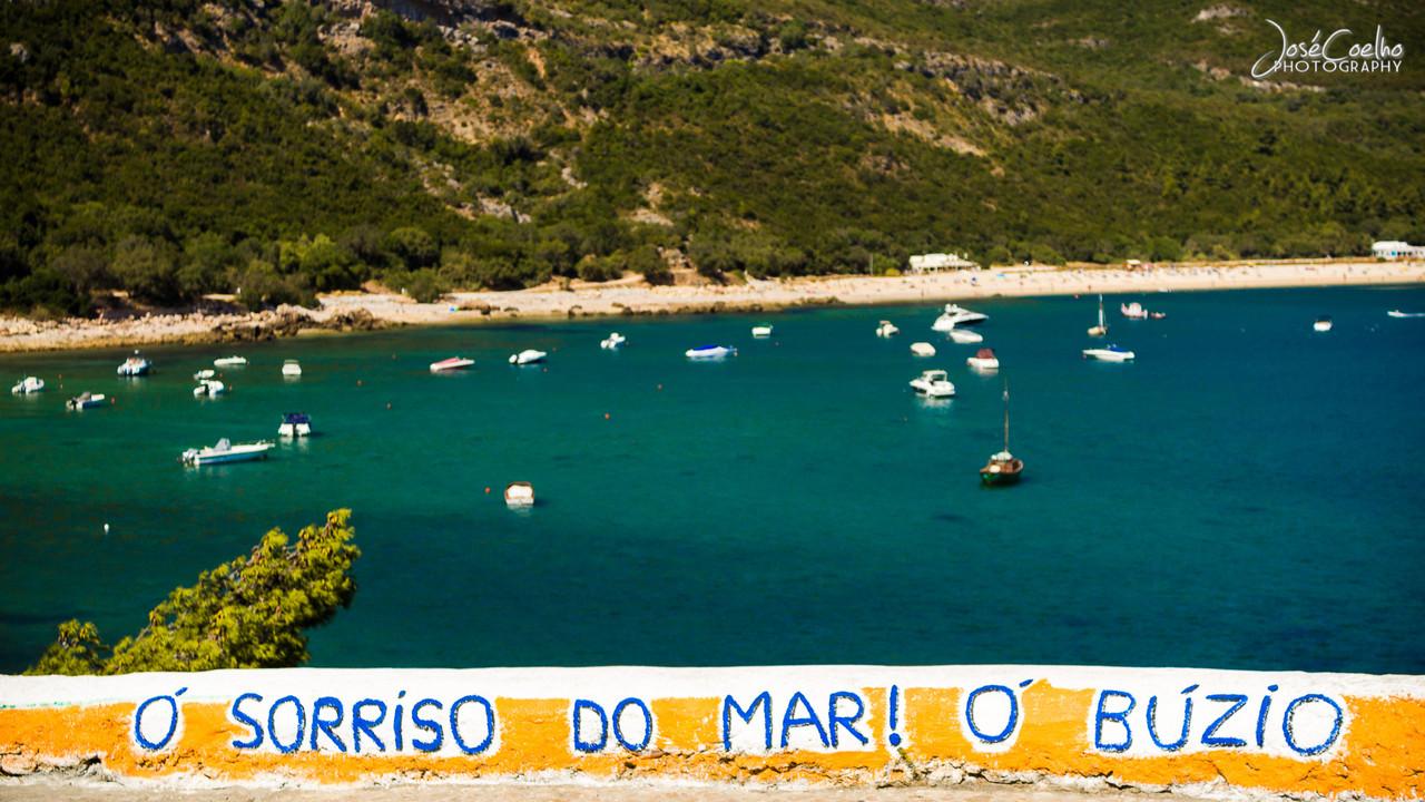 portinho da arrábida setúbal praia mar barcos portugal
