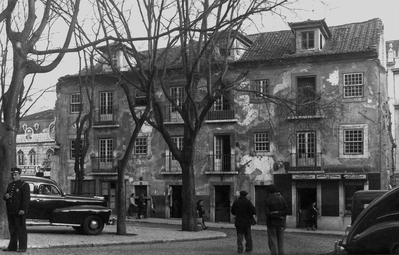 Largo do Socorro, 1952, foto de Eduardo Portugal,