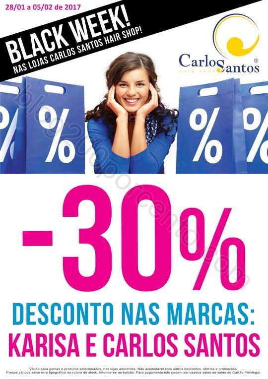 30% de desconto CARLOS SANTOS HS promoções de 28