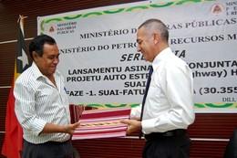 Lançamento do projecto auto-estrada timorenses