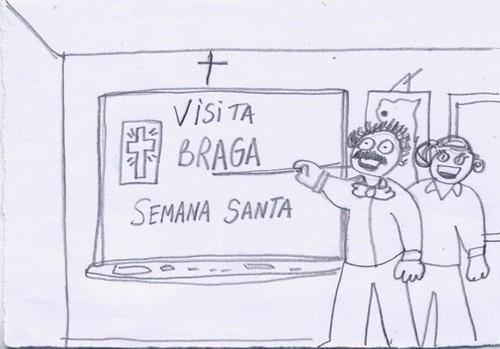 Desenho dos Surdos da ida a semana Santa em Braga.