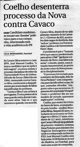 Coelho vs. Cavaco
