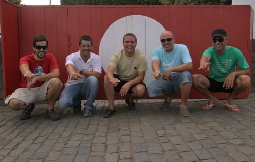 Amigos nos toiros do Lameirinho: Carlos Fontes, Nuno Rosado, Ricardo Costa, eu e Ricardo Laureano...
