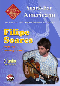 Filipe Soares, música em português no aquecimento para a noite de Angra...