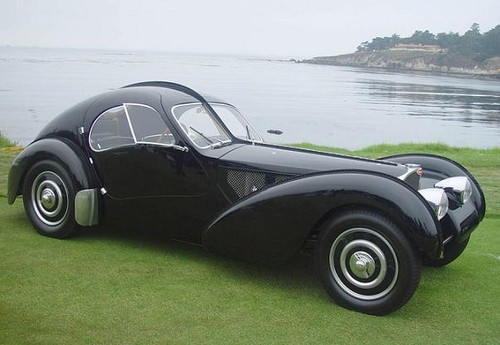 O Bugatti Type 57SC Atlantic de 1936...