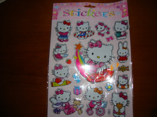 stickers kitty brilhantes