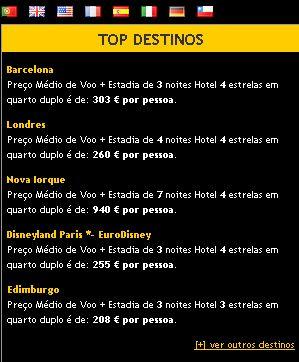 Top Destinos Viagens