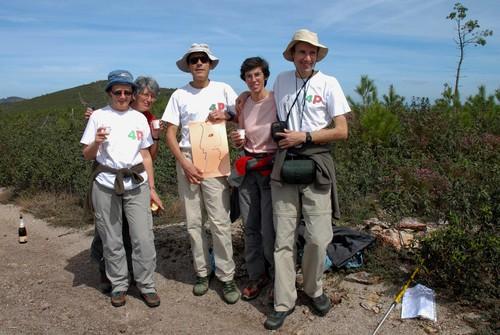 Os fundadores do projecto ao km 1000