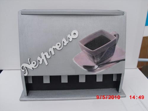 Caixa para capsulas da  Nespresso